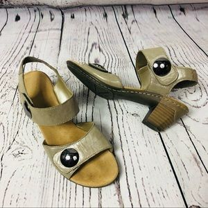Rieker Leather Open Toe Ankle Strap Sandals 38